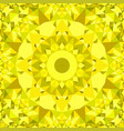 yellow abstract repeating triangle mosaic vector image vector image