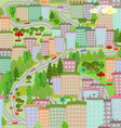 seamless texture with cityscape summer vector image