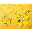 greeting card with cute bee vector image