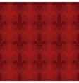 Red fleur de lis seamless pattern vector image
