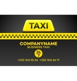 Taxi business card or flyer vector image