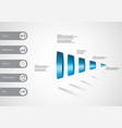 3d infographic template with cone vertically