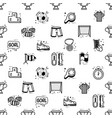a set soccer icons - seamless pattern in a vector image vector image