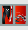 abstract business card design templates vector image