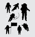 Astronaut silhouettes vector image vector image
