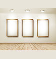 Background with frames and spotlights vector image vector image