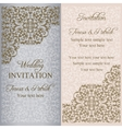 Baroque wedding invitation patina vector image vector image