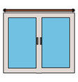 bedroom windows isolated icon vector image vector image