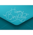 birthday envelope blue vector image vector image