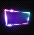 blank 3d light sign with neon effect techno frame vector image vector image