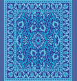 blue oriental carpet vector image