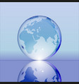 blue shining transparent earth globe vector image vector image