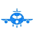 Cargo Aircraft Grainy Texture Icon vector image