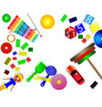 childrens toy world vector image vector image