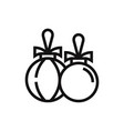 christmas bauble icon vector image