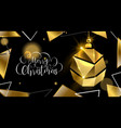christmas gold luxury 3d bauble greeting card vector image vector image