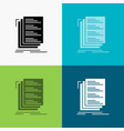 code coding compile files list icon over various vector image