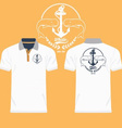 Collared Shirt Design Template vector image vector image