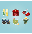 color set with farm icons vector image vector image