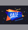 colorful banner with text sale vector image vector image