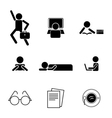 daily life icons vector image
