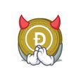 devil dogecoin mascot cartoon style vector image vector image