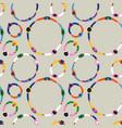 diverse people round circle seamless pattern vector image