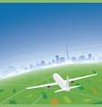 dublin skyline flight destination vector image vector image