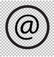 email isolated on transparent email web icon flat vector image