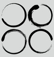 enso zen circle brush set vector image vector image