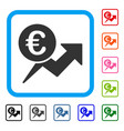euro sales growth framed icon vector image vector image