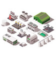 factory isometric set vector image