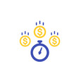fast loan icon on white vector image vector image