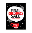 final christmas sale holiday discount advert vector image vector image