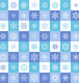 Flat linear snowflake icons vector image vector image