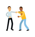flat of two angry people vector image