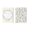 floral cards set vector image vector image