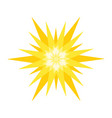 geometric sun isolated vector image vector image