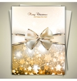 Greeting card with white bow and copy space vector image vector image
