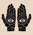 hand drawn human hands isolated vector image