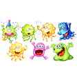 Happy monsters vector image vector image