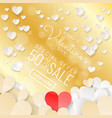 happy valentines day sale background banner with vector image