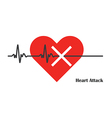 heart pulse attack vector image
