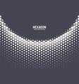 hexagonal halftone pattern geometric technology vector image vector image