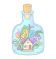 house in bottle vector image vector image