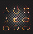 laser cutting or welding trace transparent effect vector image vector image