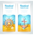 Marine Banners Set vector image vector image