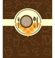 menu template vector image