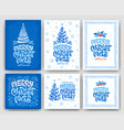 merry christmas greeting card set with artistic vector image vector image