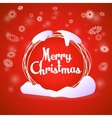 Merry Christmas round greeting red card vector image